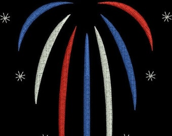 SALE 65% off Fireworks Fourth 4th of July Machine Embroidery Design 4x4 and 5x7 Instant Download