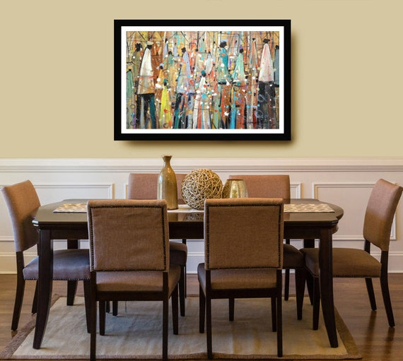Our Colorful People Watercolor Print African American By