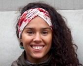 Women's Turban Headband- Floral Print Turban Headband- Boho Chic Hair Accessory- Ear Warmer- Ear Muff- Hair Wrap- Head Wrap- Turband Gift