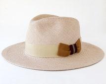 Straw Fedora Hat Women's Straw Hat Men's Straw Hat Spring Fashion Wide Brimmed Sun Hat Spring Accessory Straw Summer Hat Beach Hat Toquilla