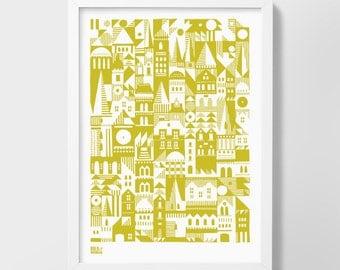 Coming Home - decorative screen print