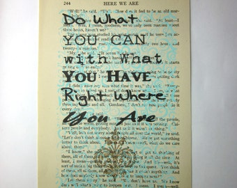 Do what you can, with what you have print on a book page