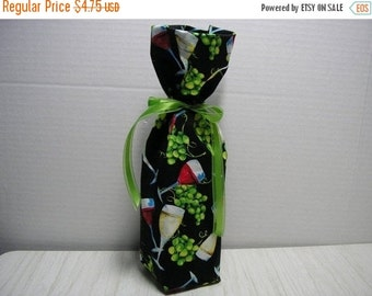 July Sale Wine Bottle Gift Bag All Ocassions Print in Wine Glasses Grapes