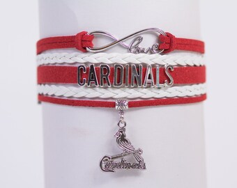 St. Louis Cardinals Baseball Handmade Infinity Bracelet