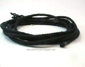 navy handmade cotton rope jewelry cord navy blue craft rope macrame cord special cord hand twisted cord 3884