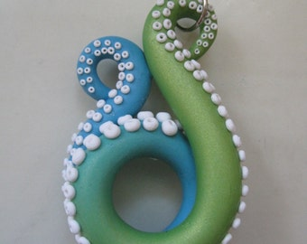 blue and green octopus tentacle