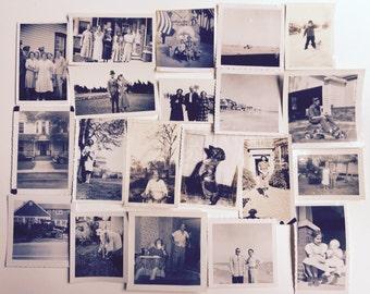 Huge Vintage Photo Lot 70 + Mixed Subject Children Men Women Destash Snapshot