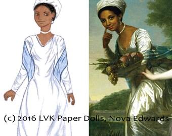 Dido Elizabeth Belle Paper Doll