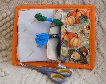 Scarecrows Needle Book, Needle Case, Hand Sewing Organizer