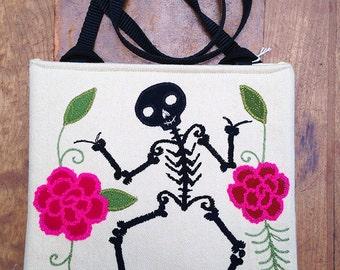 black skeleton bag