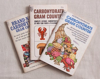 Vintage Dell Purse Books Brand Name Carbohydrate Gram Counter 1960s and 1970s Pocketbook Guide