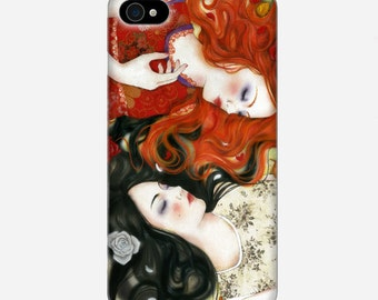 Smartphone case - iPhone or Samsung Galaxy case - Snow White and Rose Red