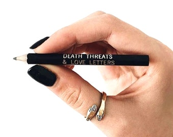 Death Threats & Love Letters- Set of 6 Pencils