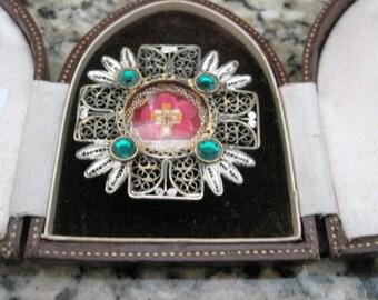 Vintage Religious Relic Pendant