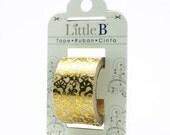 Washi Tape Gold Foil Floral Little B 25mm Tape