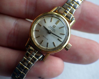 Vintage Ladies Omega Devillle - Gold and Stainless Steel - Waterproof - Working