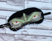 Monster Man Embroidered Sleep Mask