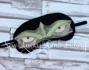 Monster Man Embroidered Sleep Mask