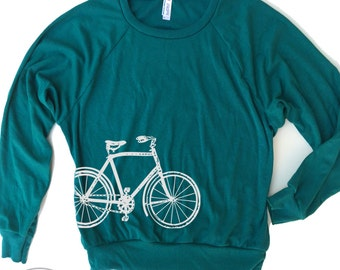 Womens Vintage BIKE Lightweight Tri-Blend Pullover - american apparel S M L (6 Color Options)
