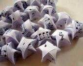 40 Music Note Origami Stars