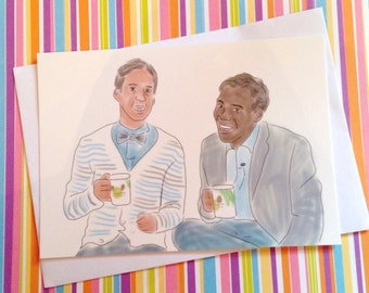 Community Troy and Abed - Bromance postcard print - measures 6x4 / 15x10