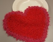 Heart-shaped Red and Pink Scrubby