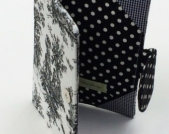 Kindle Fire Cover, Nook Tablet Cover, Kindle Paperwhite Cover, all sizes, Jamestown Toile and Gingham Cover