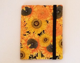 Kindle Paperwhite Case, Nook Glowlight Case, Samsung Nook Cover, all sizes, Sunflower Butterfly hardcover eReader Case