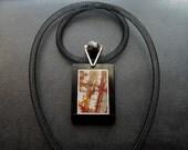Pendant - Royal Art - picture jasper, modern, unique, art to wear, ooak - by Schneider Gallery