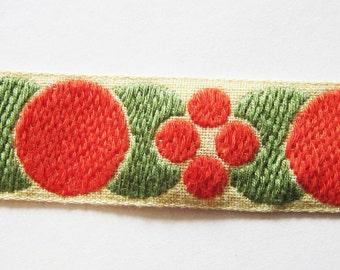 Vintage Art Deco Embroidered Ribbon Trim 3 yds