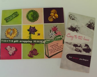 How to Tie Bows Gift Wrapping Magic 2 vintage booklets Easy to Tie Bows