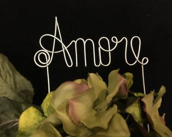 AMORE Cake Topper  Italian Language Wedding word for Love Italy European Inspired