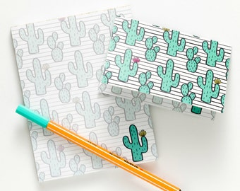 Cactus Notepad & Notecards All-In-One