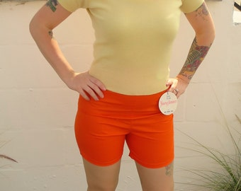 1950s Bright orange shorts - New old stock - 26 in. waist, 36 in. hips