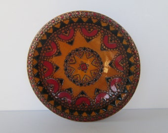 Lovely Carved Small Wood Plate