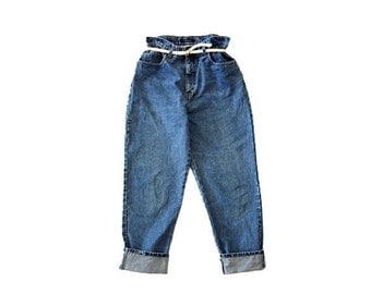 HURRY HALF OFF vintage high waisted Jeans size medium large / mom jeans boyfriend jeans tapered jeans 90s jeans 90s clothing