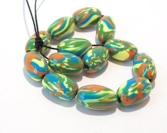 Summer Clearance Sale - Handmade Polymer Clay Beads