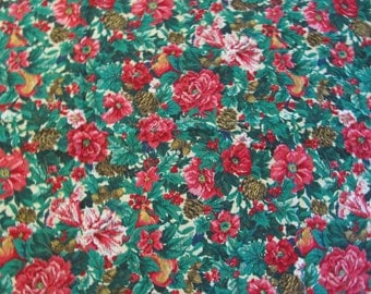 Free Shipping! VIP Screen Print by Cranston Print Works, Christmas Fabric. 1/2 Yard. 16137