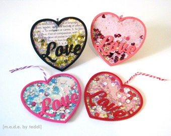 Shaker Gift Tags - Love