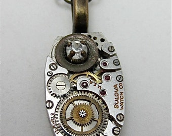 Watch part necklace - Contraption - Steampunk Necklace - Repurposed Art