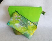 Cosmetic Bags, Set of Two Cosmetic Bags, Toiletry Case, Makeup Cases, Travel Cosmetic Cases, Green