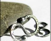 Handmade Sterling Silver S Hook Clasp 16mm - Artisan Jewelry Findings - 16 gauge