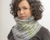 Earthy Handspun Handknit Scarf, Neck warmer, Winter Accessory, Merino, Cashmere, Angora, Multicolor