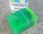 Sea Glass Soap, gentle cleansing soap, best bar soap, fresh scent soap, green soap