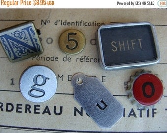 "20PercentOff Vintage Metal Numbers Typewriter Keys Mixed Steampunk N0"" identification 85"