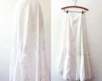 1900s skirt / antique cotton skirt / Satterfield skirt