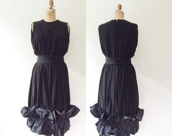 black cocktail dress / vintage 60s dress / 60s LBD dress