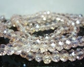 4mm AB Pink Ice 25 Crystal Rondelles,Faceted Crystal 4mm beads 25