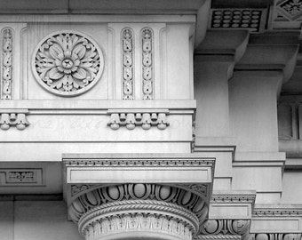 Philadelphia Architecture Photography, Black & White Photography, Black and White Print, Urban Art, Architectural Detail, Urban Photography