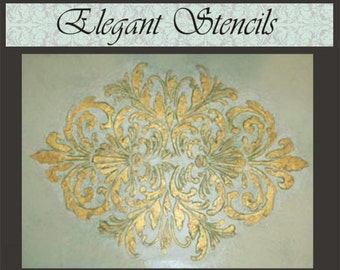 Stencil/ Plaster Stencil Bella Medallion Wall Stencil/Decorative Stencil/Furniture Stencil